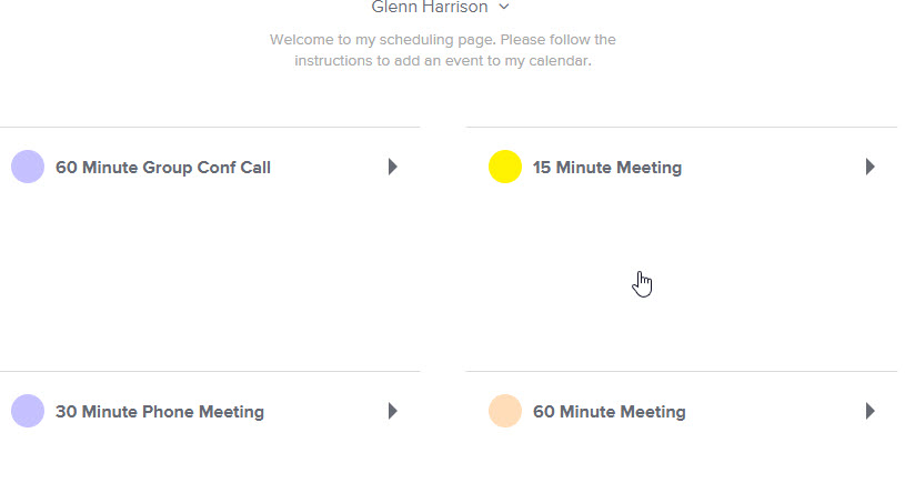 Choose a Meeting