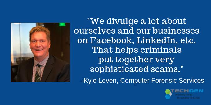 We divulge a lot on social media.