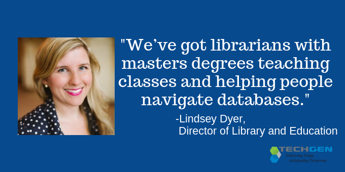 Librarians are available to help navigate databases.