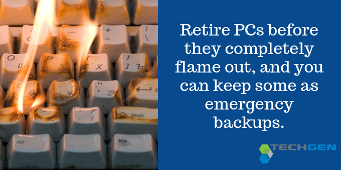 Retire PCs to keep for emergency backup