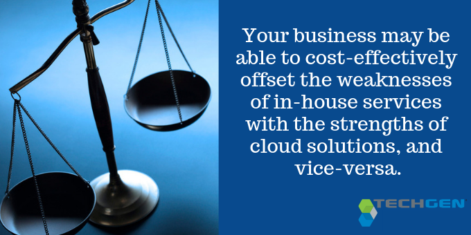 In-house and cloud servers may be your best option.