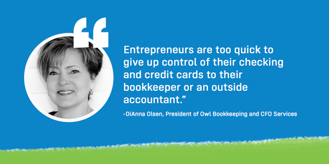 Don't give up control of their checking and credit cards to one person.