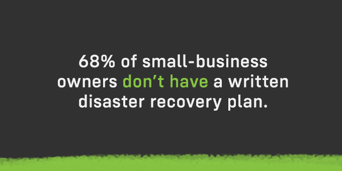 Do you have a written disaster recovery plan?