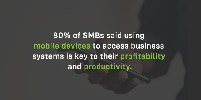 Mobile devices are key to most people's productivity.