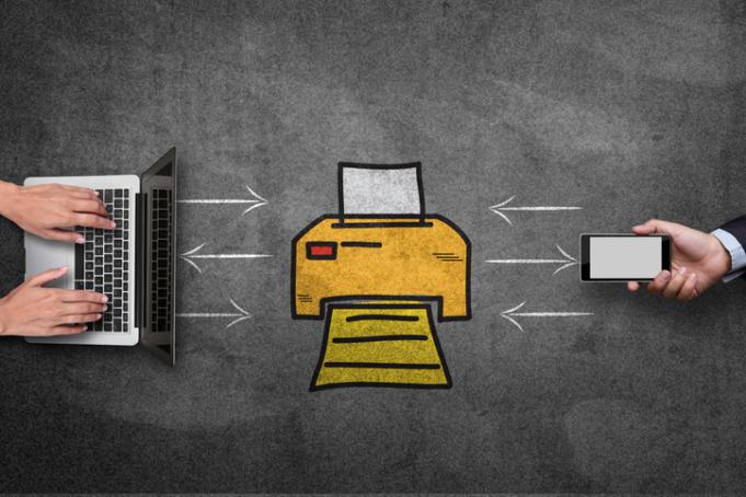 Printing to a home printer
