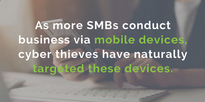 Mobile devices are being targeted.